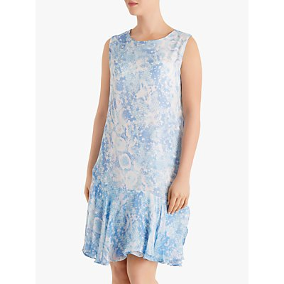 Fenn Wright Manson Petite Snake Dress, Blue Snake Print