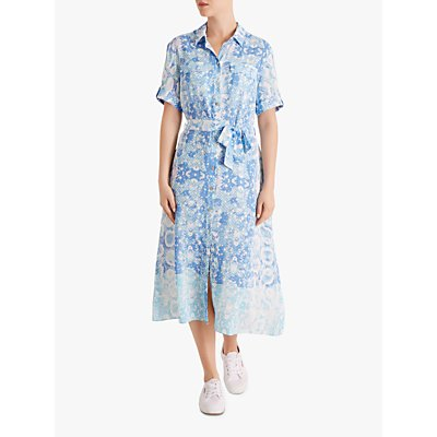 Fenn Wright Manson Petite Python Dress, Blue Snake Print