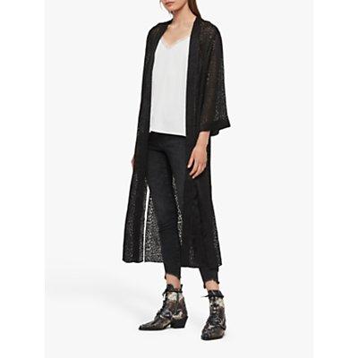 AllSaints Carine Devore Kimono, Black