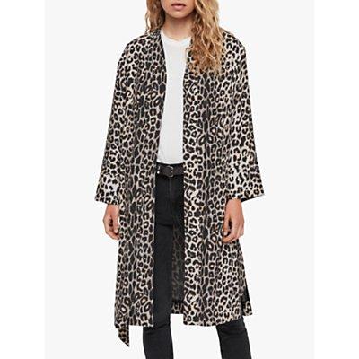 AllSaints Esme Leppo Kimono, Leopard Yellow
