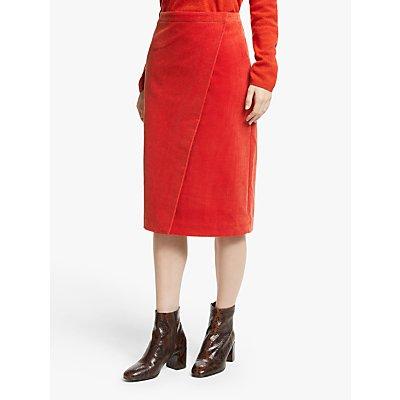 John Lewis & Partners Cord Wrap Skirt