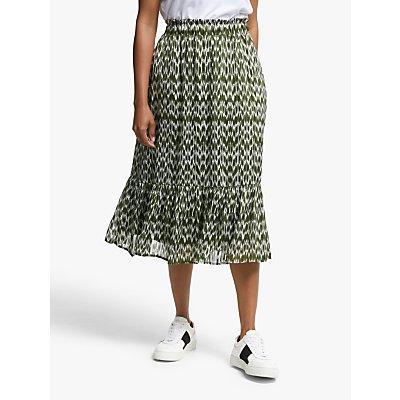 Y.A.S Fiona High Waist Midi Skirt, Green