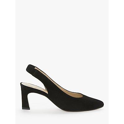 John Lewis & Partners Aubree Suede Slingback Court Shoes, Black