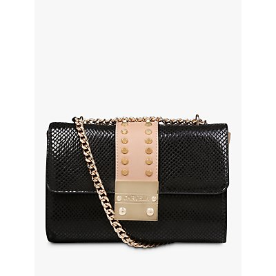 Carvela Kankan Chain Strap Cross Body Bag, Black