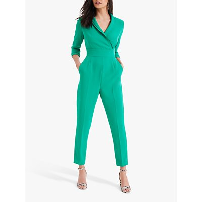 Damsel in a Dress Pleat Jumpsuit, Green
