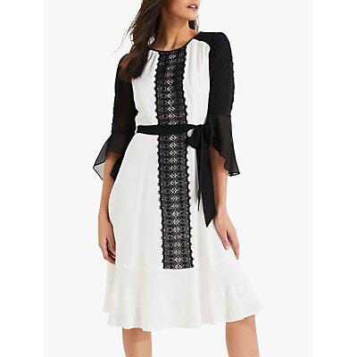 Damsel in a Dress Cia Lace Dress, White/Black