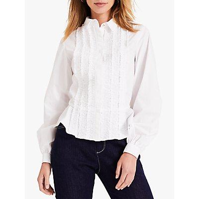 Damsel in a Dress Nala Ruffle Applique Cotton Shirt, White