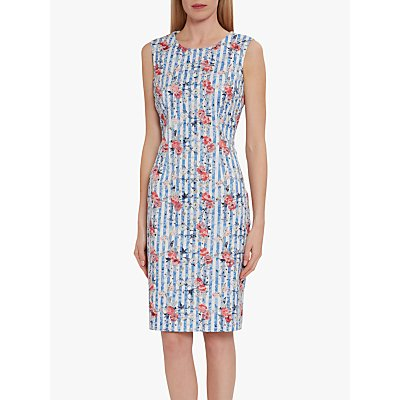 Gina Bacconi Savera Stripe Dress, Blue