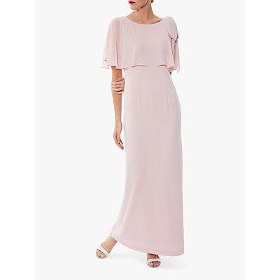 Gina Bacconi Joni Moss Crepe Maxi Dress, Potpourri Pink