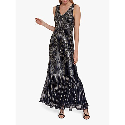 Gina Bacconi Alundra Beaded Maxi Dress