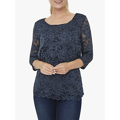 Mamalicious June Jersey Lace Top, Navy
