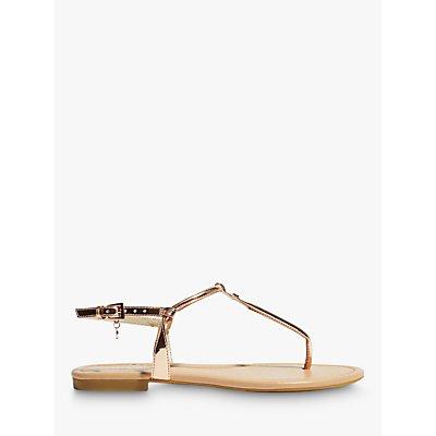 Karen Millen Flat Thong Sandals, Rose Gold