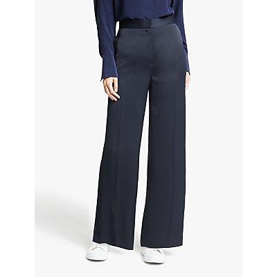 Modern Rarity Satin Wide Leg Trousers, Blue