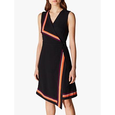 Karen Millen Wrap Midi Dress, Black