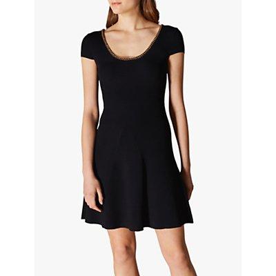 Karen Millen Chain Trim Dress, Black