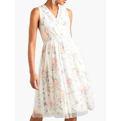 Yumi Garden Print Dress, White
