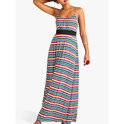 Yumi Mexican Jersey Stripe Maxi Dress, Multi