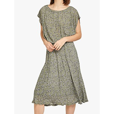 Ghost Judith Floral Print Dress, Green/Multi