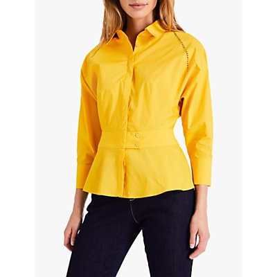 Damsel in a Dress Pixie Broderie Shirt, Marigold