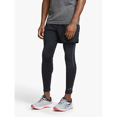 Ronhill Stride Stretch Running Tights, All Black