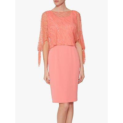 Gina Bacconi Jazz Sequin Overtop Tailored Dress, Dahlia