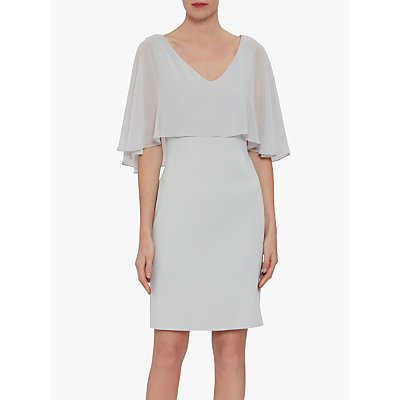Gina Bacconi Adele Moss Crop Chiffon Dress