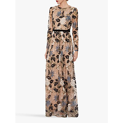 Gina Bacconi Sherri Sequin Maxi Dress, Multi