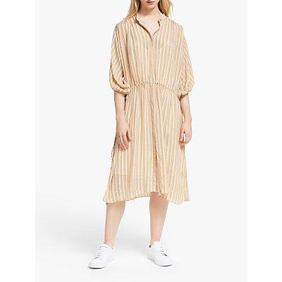 Second Female Go Stripe Midi Dress, Brazilian Sand