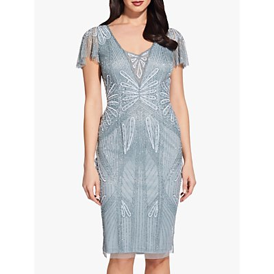 Adrianna Papell Beaded Short Dress, Horizon