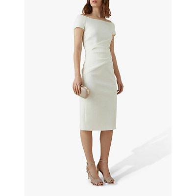 Karen Millen Wrap Effect Dress, Ivory
