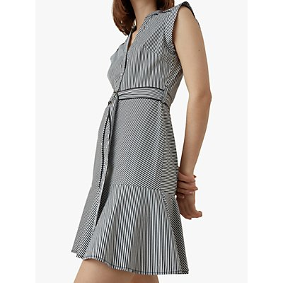 Karen Millen Stripe Dress, Black/White