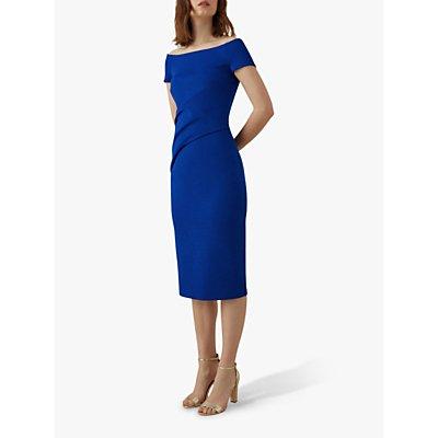 Karen Millen Wrap Effect Dress, Blue