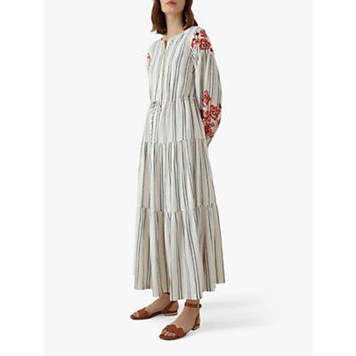 Karen Millen Embroidered Maxi Dress, White/Multi