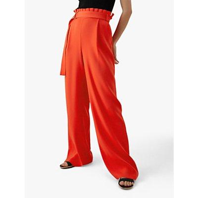 Karen Millen Wide Leg Trousers, Red