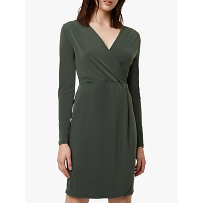 French Connection Slinky Wrap Dress, Burnt Olive