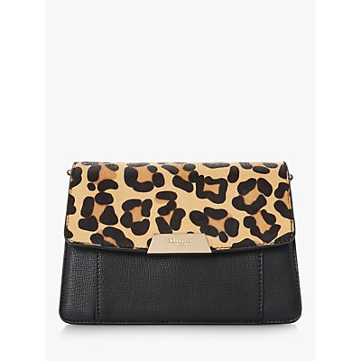 Dune Eadaa Faux Leather Clutch Bag, Leopard Print