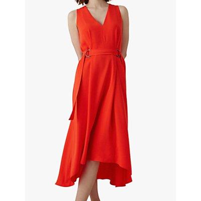Karen Millen Sleeveless Midi Dress, Red