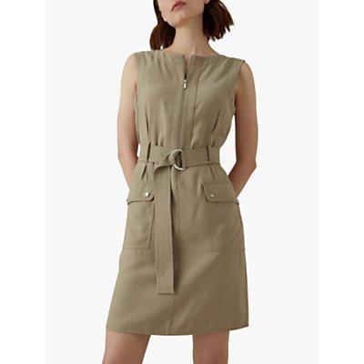 Karen Millen Sleeveless Utility Dress, Stone