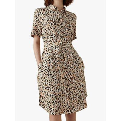 Karen Millen Leopard Print Shirt Dress, Multi