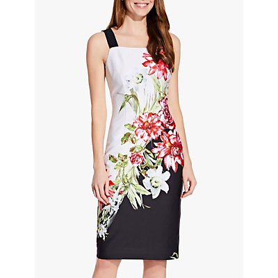 Adrianna Papell Scuba Floral Print Sheath Dress, Multi
