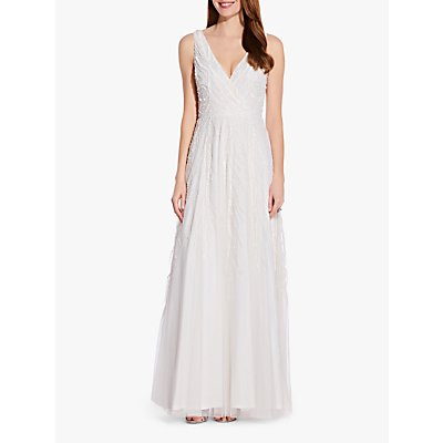 Adrianna Papell Beaded Gown, Ivory