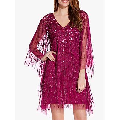 Adrianna Papell Beaded Kaftan Dress, Red Plum