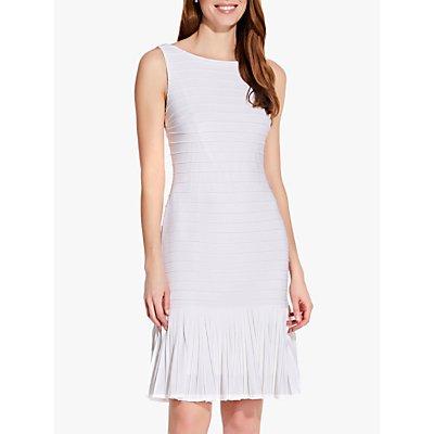 Adrianna Papell Flounce Hem Pintuck Dress