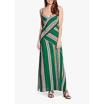 Adrianna Papell Stripe Slip Maxi Dress, Green/Multi