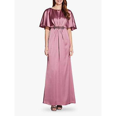 Adrianna Papell Draped Cape Dress, Rose