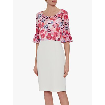 Gina Bacconi Hermila Floral Overtop Tailored Dress