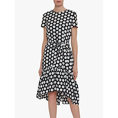 Gina Bacconi Tanna Spot Dress, Black