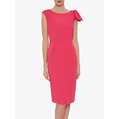 Gina Bacconi Gratia Moss Crepe Shift Dress