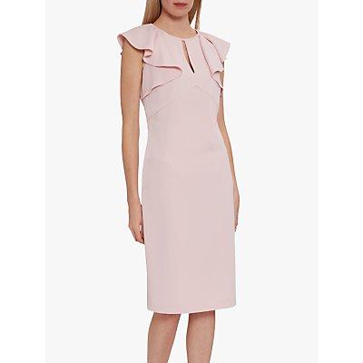 Gina Bacconi Enora Moss Crepe Frill Detail Dress