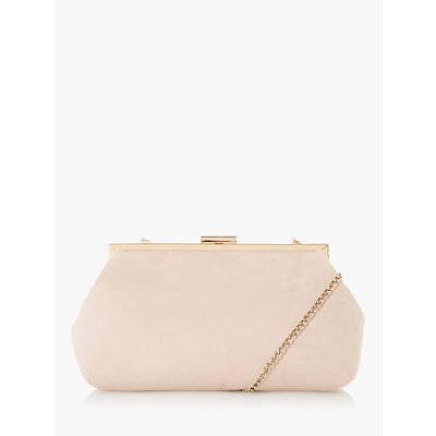 Dune Emellie Suede Metal Trim Clutch Bag